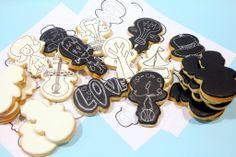 Sketching & re-purposing cookie cutters from Sweet Hope cookies