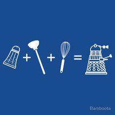 Daleks. They may be the greatest evil aliens in all of Doctor Who and the archenemies of the The Doctor and the Time Lords...But they're all just a big salt n' pepper shaker with a plunger and a whisk attached. Lmao.