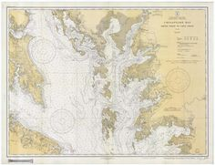Chesapeake Bay - Smith Point to Cove Point Historical Map - 1934