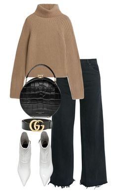 """Untitled #5381"" by theeuropeancloset on Polyvore featuring RE/DONE, Aspinal of London and Gucci"