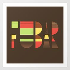 'Fubar' Art Print by WordQuirk #poster #typography #humour #abstract #Society6