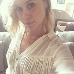 becbecbobec: Feeling fringy with Becca Tobin, The Girl Who, Ruffle Blouse, Skinny, Photo And Video, Celebrities, Instagram, Tops, Glee