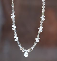 White Necklace, Semi Precious Gemstones, Glass Beads, Pearls, Facebook, Crystals, Silver, Handmade, Jewelry