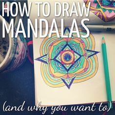 Learn a fun & simple way for how to draw mandalas. This reflective…