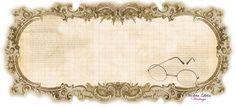Vintage Glasses Label ~ Violeta lilás Vintage