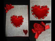 Paper Crafts: How to make a beautiful Valentine's Day heart greeting card - YouTube