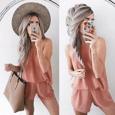 "9,023 Me gusta, 40 comentarios - Lulus.com (@lulus) en Instagram: ""@emilyrosehannon casual chic wearing our rusty rose romper in the perfect terra cotta color (shop…"""