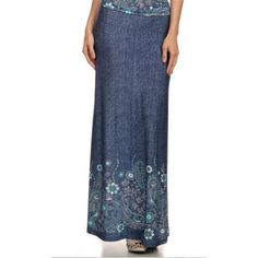 Rosetta denim maxi skirt from apostolicclothing-com