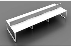 - Shared legs / components - Cable management tray - Various sizes/shapes - 4 week lead time - Available to view at our office furniture showroom Office Table Design, Office Space Design, Modern Office Design, Contemporary Office, Office Interior Design, Office Interiors, Office Workspace, Office Decor, Grey Sofa Design