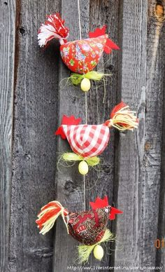 Tall skinny long legged birds to make -- comical Bird Crafts, Felt Crafts, Fabric Crafts, Sewing Crafts, Diy And Crafts, Sewing Projects, Crafts For Kids, Arts And Crafts, Chicken Crafts