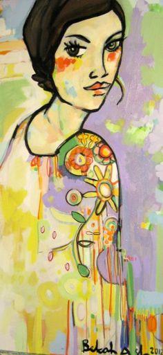 Spring Pattern - Looking Back by Bekah Ash