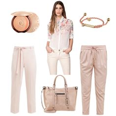 OneOutfitPerDay 2016-07-29 Nude Outfit - #ootd #outfit #fashion #oneoutfitperday #fashionblogger #fashionbloggerde #frauenoutfit #herbstoutfit - Frauen Outfit Outfit des Tages Sommer Outfit Armband Bluse Caterina mariani Guerlain HelloPretty Morgan nude Nudelook Shopping Bag Steve Madden Stoffhose Tasche Wallis