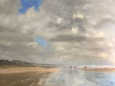 """""""Autumn Sun - Goolwa Beach - beachscape"""" by Mike Barr. Paintings for Sale. Buy Art Online, Watercolour Tutorials, Fun Crafts For Kids, Australian Artists, Old Art, Paintings For Sale, Beautiful Artwork, Online Art Gallery, Impressionism"""