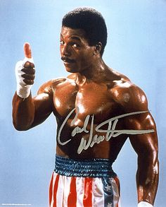 Carl Weathers is Apollo Creed- my second favorite character in the Rocky movies!