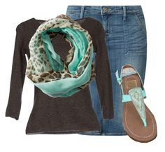 """Mint and Leopard!"" by enhoover ❤ liked on Polyvore featuring Lee, Rossopuro and Gabriella Rocha"