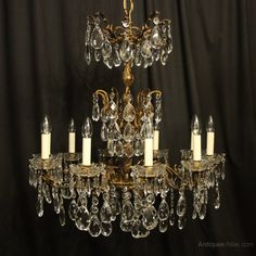 Discover recipes, home ideas, style inspiration and other ideas to try. Italian Chandelier, Antique Chandelier, Chandelier Lamp, Antique Lighting, Chandeliers, Lamps, Faceted Crystal, Crystal Pendant, Décor Antique