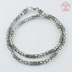 ELEGANT BEAUTY DESIGN 925 STERLING SILVER NECKLACE CHAIN FOR WOMEN'S & GIRL'S #SilvexImagesIndiaPvtLtd #Chain