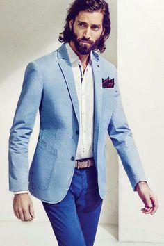 Dan Murphy for Massimo Dutti - sky blue blazer | Massimo Dutti ...