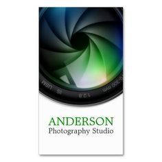 Professional Photographer Vertical Business Card