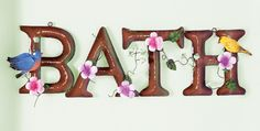 Floral Bath Metal Wall Art Decoration collections etc