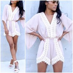 Summer's in full effect and easy no fuss looks are a must. We're thinking #rompers .. The store is now open and the super cute Nude Romper is ready to shop. #summer #style #fashion #boutique #friday