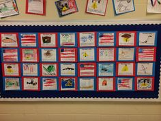 Literacy and Laughter -  Teaching American Symbols Class Quilt