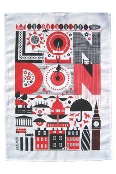 London tea towel.