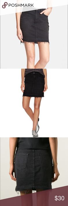 Current Elliot the skinny blk denim stretch skirt Never worn-brand new Current/Elliott Skirts Mini