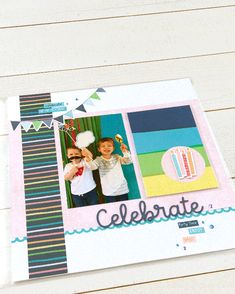 Scrapbooking Pockets for More Memory Space | Make It from Your Heart First Birthday Parties, First Birthdays, Birthday Cards, Birthday Scrapbook Layouts, Scrapbook Pages, Heart Party, Time Pictures, Pocket Scrapbooking, Pocket Cards