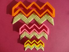 Cookie cutter chevron close ended 3 pieces by RollingPinsDesign