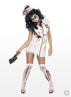 Zombie Sanitäterin Kostüm - maskworld.com