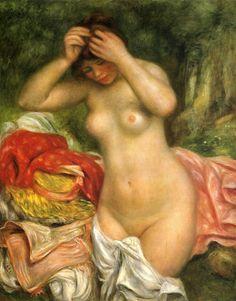 Pierre-Auguste Renoir: Baigneuse arrangeant ses cheveux (1893)