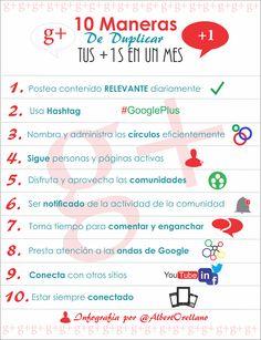 Aumentar tus +1s en #GooglePlus