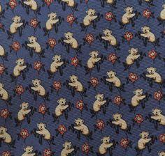 Tie Rack Beaufort Tie Pure Silk Elephant Small Repeat Pattern Yellow ...