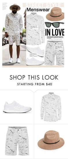 """Street Style-Menswear"" by kusja ❤ liked on Polyvore featuring adidas Originals, Topman, Ray-Ban, men's fashion, menswear, StreetStyle, fashionWeek and LondonCollections"