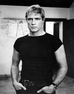 """Marlon Brando on the set of """"The Night Of The Following Day."""