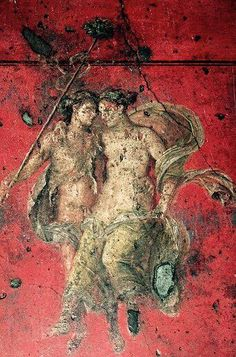 Bacchus and Ariadne, fresco from Triclinium, Fourth Pompeian style, House of Vettii, Pompeii (Unesco World Heritage List, 1997), Campania, Italy, Roman civilization, 1st century