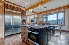 Ski Ridge Timber Frame Design – Streamline Design Kitchen Dining, Dining Room, Wrap Around Deck, Open Concept Kitchen, Home Builders, Great Rooms, Skiing, Loft, Patio