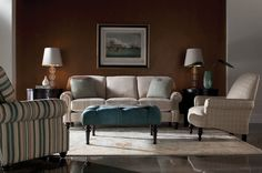 The Madalyn Sofa from Clayton Marcus will make any home feel welcoming and cozy! Visit www.claytonmarcus.com to locate the nearest dealer.