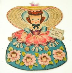 1947 Hallmark Land of Make Believe Paper Doll Card  Mary Mary