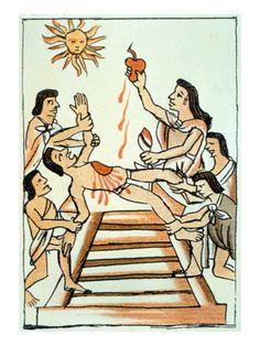 Human sacrifices were an important part of the Aztec culture. Since the Aztecs were so religious, they believed that they could please their Gods, particularly the sun God, by sacrificing humans to the Gods. Ritual Sacrifice, Aztec Culture, Priest, American History, Find Art, Framed Artwork, Giclee Print, Disney Characters, Fictional Characters