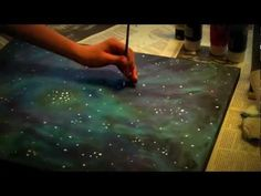 Galaxy Painting: How-To I have always loved these. One day I will do one for myself! :D