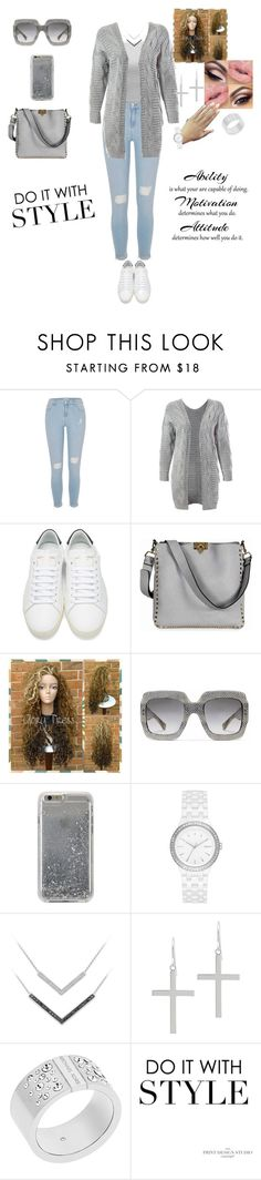 """Untitled #109"" by amber-jaimes ❤ liked on Polyvore featuring River Island, Sans Souci, Yves Saint Laurent, Valentino, Gucci, Agent 18, DKNY, Jacmel and Michael Kors"