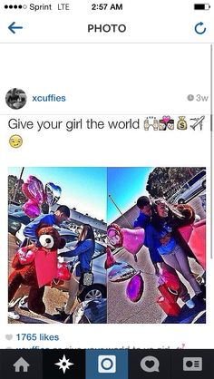 """Give your girl the world""♡♡☆   I absolutly love this and Hopefully  it will be us"