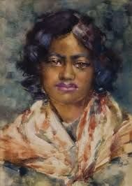 Image result for frances hodgkins painted portraits Watercolor Portraits, Portrait Paintings, Watercolour, Black Artwork, New Zealand, Neo, France, Artists, Landscape