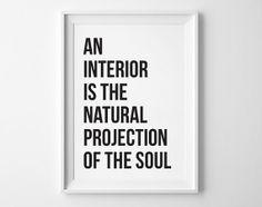 Interior quotes, wall decor, Coco Chanel quote, coco chanel print, inspirational print, soul, home decor, wall art,black white, simple print