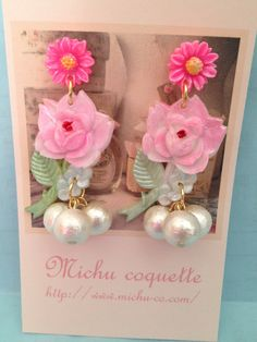 Adorable earrings from a talented artist!  Michu