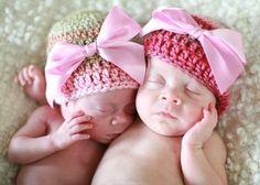 Newborn Beanie Hat  Light Pink Dark Pink Cream by adorableorganics, 26.00