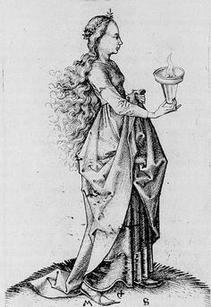 A Foolish Virgin - Martin Schongauer - WikiPaintings.org