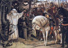 Васнецов, Виктор Михайлович — Встреча Олега с кудесником (1899).